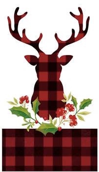 Plaid Stag Guest Towels