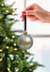 Noel, Hope, Joy Metal Silver Ball Ornament