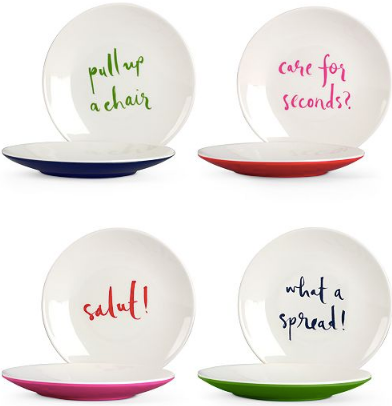 Kate Spade Tidbit Plates - set of 4