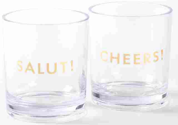 Kate Spade Here's to you Drinkware - set of 2