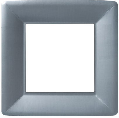 Silver Square Dinner Plate