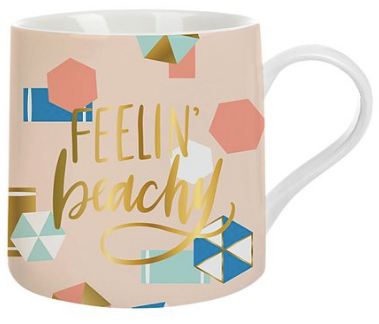 Feeling Beachy Peach and Blue Coffee Mug