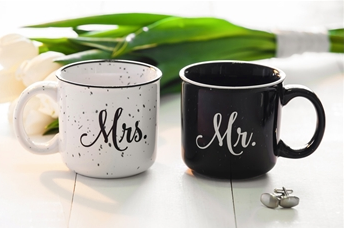Mr. and Mrs. Ceramic Mugs