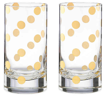 Kate Spade Highball Acrylic Glasses