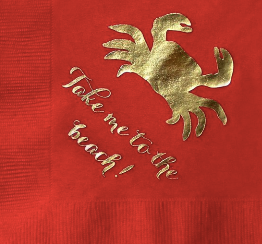 Take me to the Beach Crab Cocktail Napkins