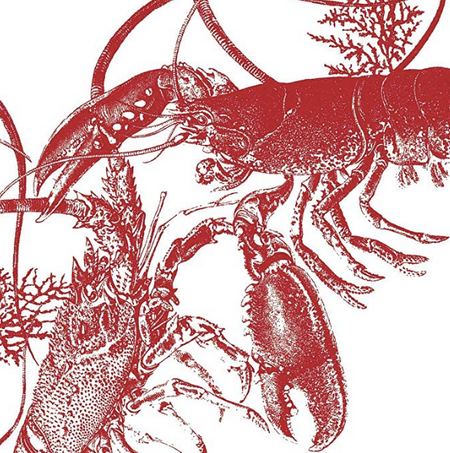 Lobster Luncheon Napkins