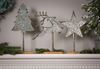 Metal Christmas Tabletop Decor with Wood Base, 3 Assorted: Tree, Reindeer, Star