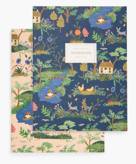 Rifle Paper Co. Notebooks - Garden Toile set of 2