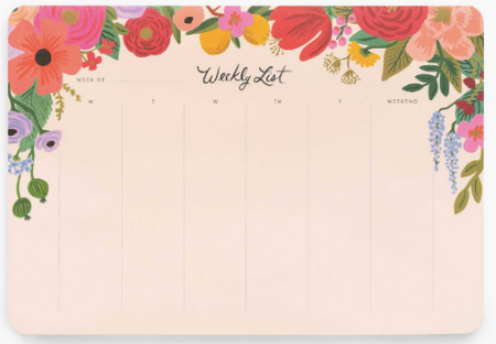Rifle Paper Co. Weekly Planner, Desk Pad