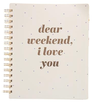 Dear Weekend Spiral Undated Planner