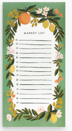 Rifle Paper Co. Market List Notepad