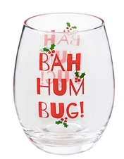 Bah Hum Bug Stemless Wineglass