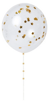 Gold Confetti Balloon Kit