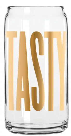Easy Tiger Tasty Tallboy Can Glass