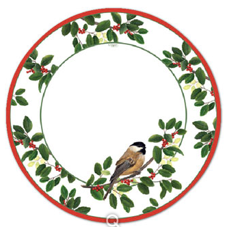Winter Songbirds Dinner Plate