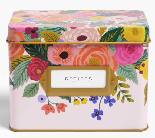 Rifle Paper Co. Recipe Tin - Juliet Rose