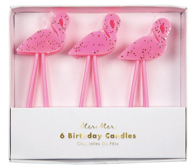 Flamingo Party Candles