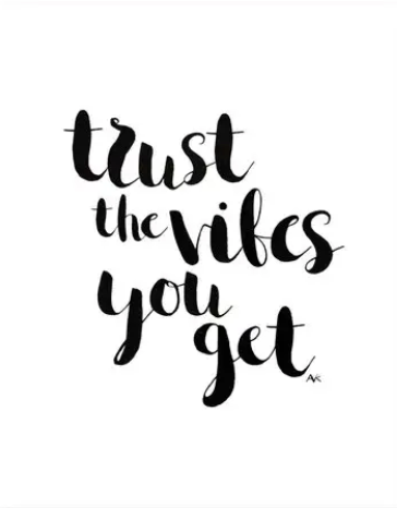 Trust The Vibes Art Print