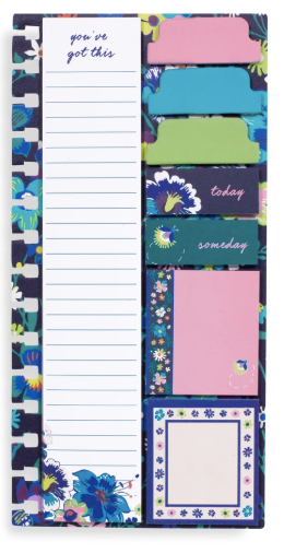 Vera Bradley planner sticky notes - moonlight garden
