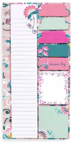 Vera Bradley planner sticky notes - Blush Flowers