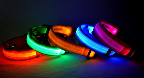 Nylon LED Dog Safety Collar