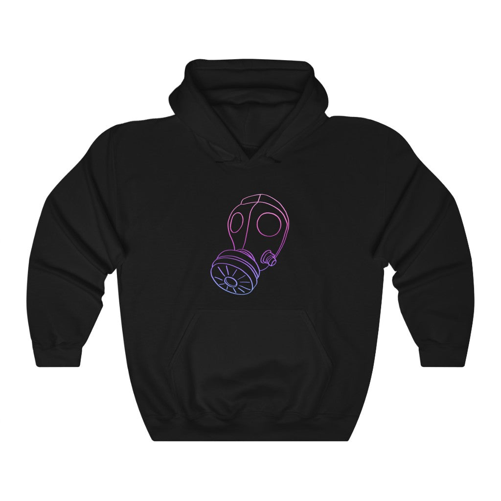 Neon Gas Mask Unisex Hooded Sweatshirt