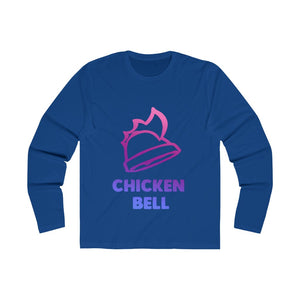 Neon Chicken Bell Men's Long Sleeve Crew Tee