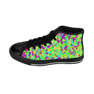 80's Camouflage Pattern Men's High-top Sneakers