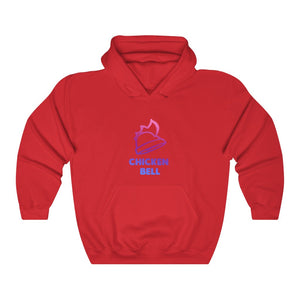 Neon Chicken Bell Unisex Hooded Sweatshirt