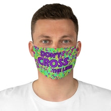 Load image into Gallery viewer, Don't Cross The Line Fabric Face Mask