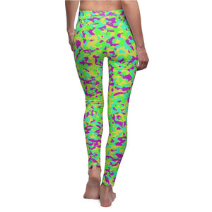 80's Camouflage Pattern Women's Leggings