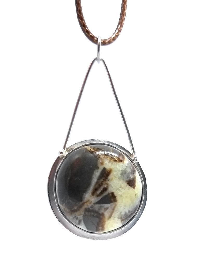 Septarian Sterling Silver Pendant Necklace