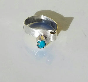 Turquoise Accent Sterling Silver Ring