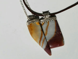 You and Me Pair Look mookaite Stone Pendant