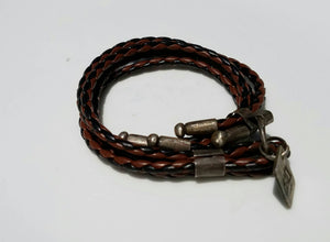 Wrap around style bracelet with Patina Finished accent