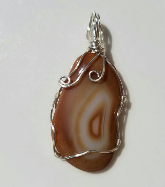 Agate Wire Wrapped Pendant