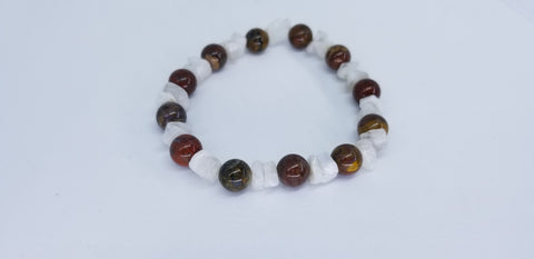 Balance energy Bracelet Spiritual Prayer Beaded Bracelet Yoga Meditation Zen Petersite and Rainbow Moonstone