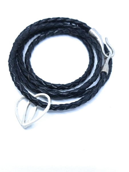 Celtic Charm Wrap around braided leather bracelet