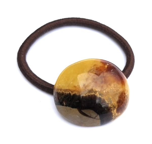 Septarian Natural Stone Hair Tie Scarf  Band