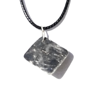 Meteorite Patina finished Sterling Silver Pendant