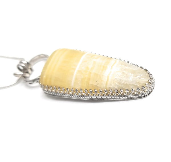 Travertine onyx Sterling Silver Pendant