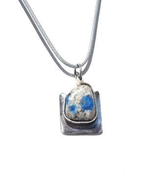K2 Sterling Silver Pendant Cotton Cord Necklace