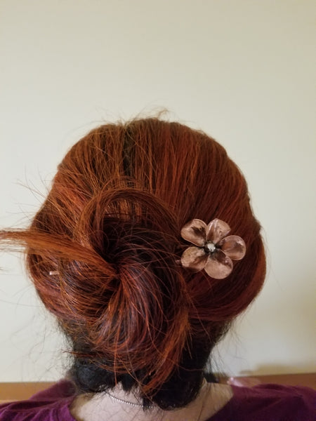 Hair Pin Comb Flower Decoration copper hair accessory