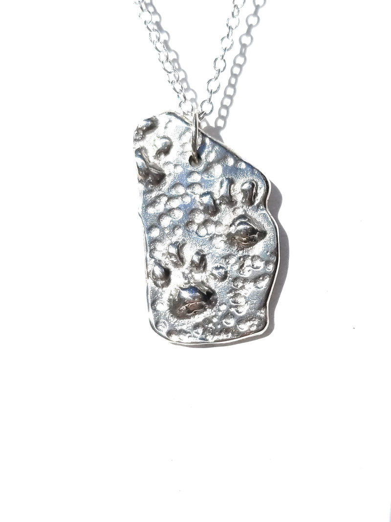 Paw Animal Foot Print Pendant Necklace