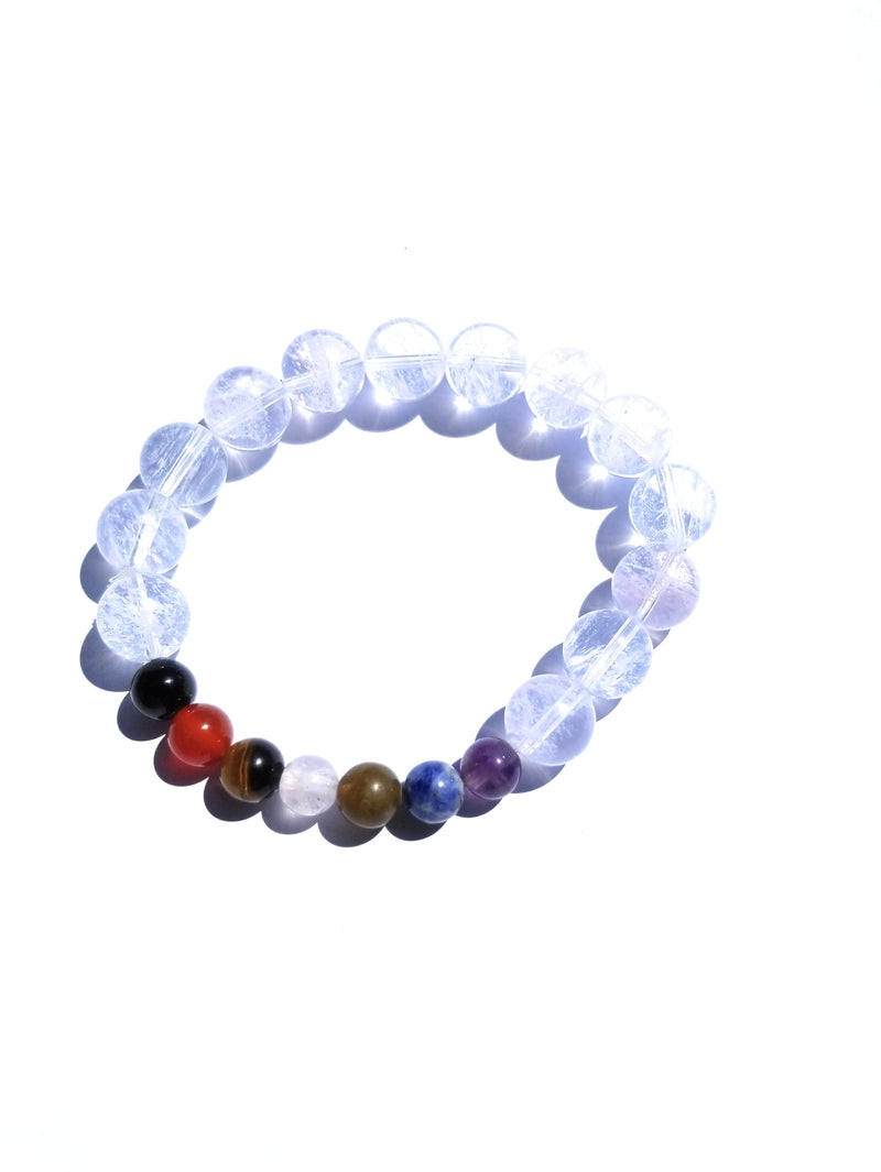 Crystal Bead With 7 Chakra Crystal Bracelet Prayer Beads Yoga Reiki Healing Elastic Bracelet