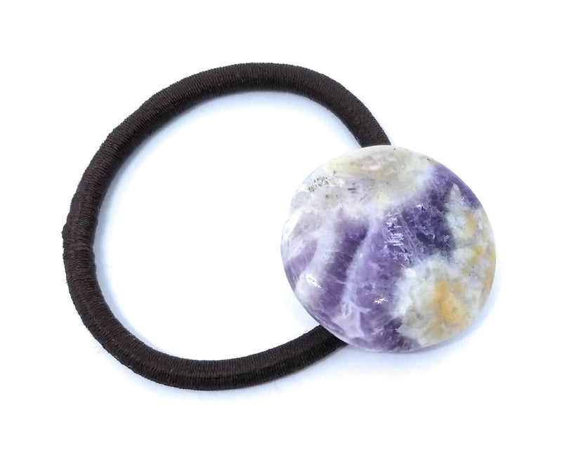 Chevron Amethyst Accesent Hair Tie band, Scarf Band