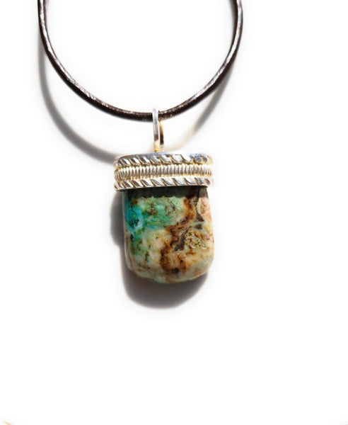 Chrysocolla Sterling Silver pendant necklace