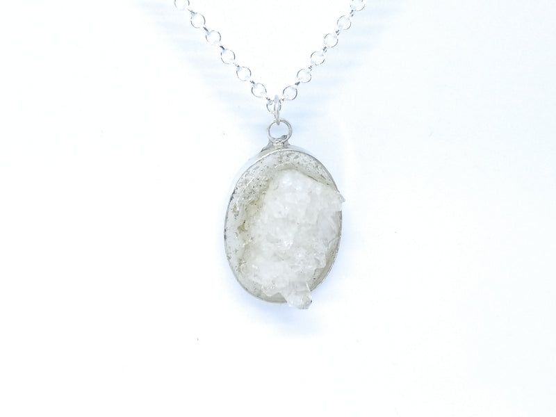 Crystal Cluster Resin Pendant Necklace