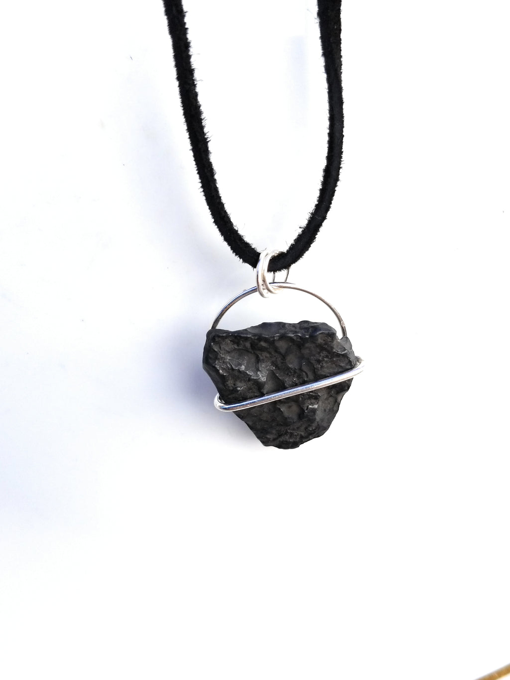 Hematite Sterling Silver Pendant Necklace
