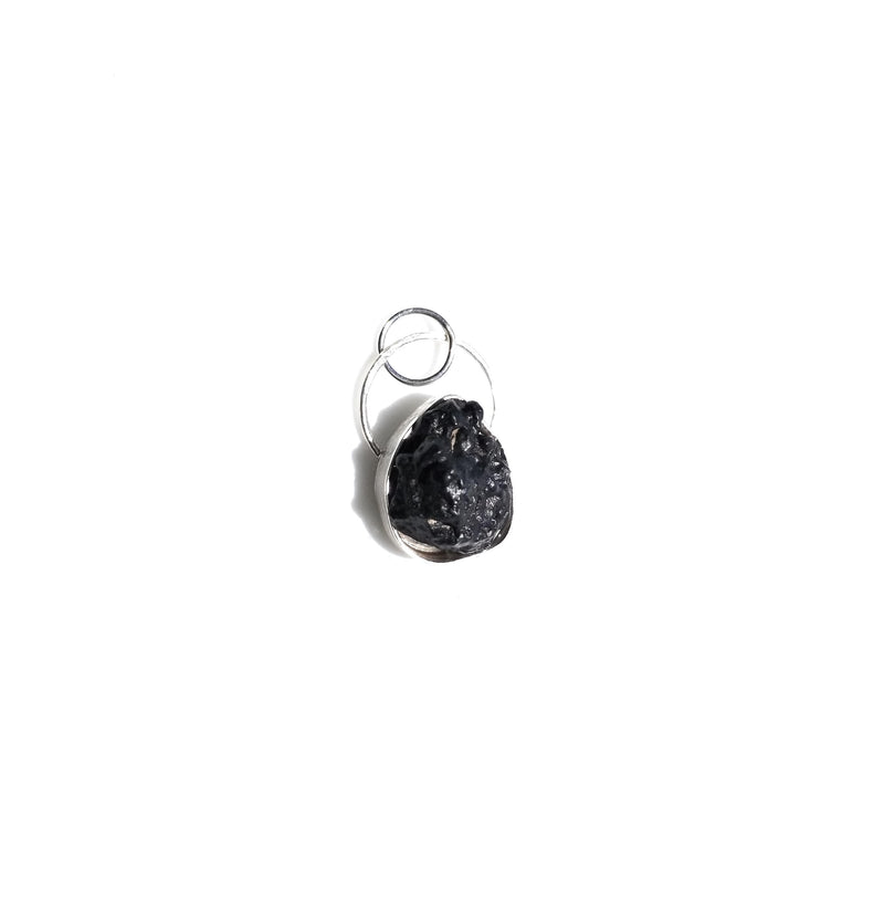 Hematite Natural Stone sterling silver Pendant